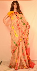 Casual Wear Tant Jamdani Saree, 5.5 m (separate blouse piece)