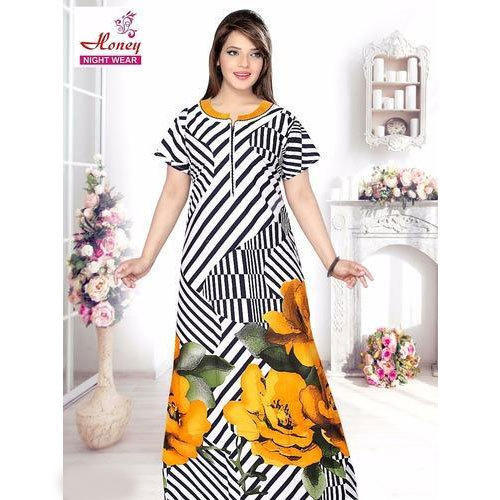 Nighties Printed Ladies Designer Nighty bcca3053f