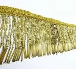 Golden Beaded Lace