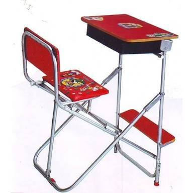 Iron And Plastic Kids Joint Study Table Chair Set Rs 675 Piece