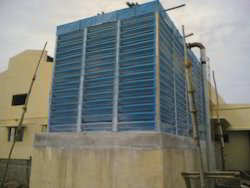 Fiberglass Reinforced Polyester Three Phase NATURAL DRAFT COOLING TOWER, Corrosion Resistant, Nill