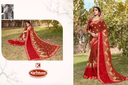 Embroidery Work Saree - Janki-5