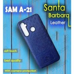 Samsung Sam A 21 Leather Plain Mobile Cover