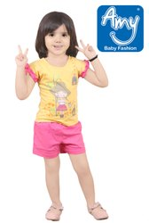 Casual Wear Multicolor Baby Girl Top & Bottom Sets - Partywear (Style No.935), Age Group: 0-2 Years