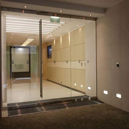 Transparent Frameless Glass Door Rs 680 Square Feet Solar And