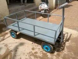 Mild Steel Hand Carts for Material Handling, Model Name/Number: 0012