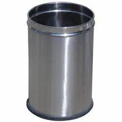 Stainless Steel Dustbin Round 10 Ltr