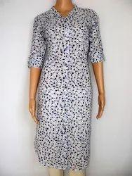 Neels Printed Cotton Kurta, Size: S, M, L & XL