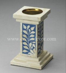 Obelisk Bone Inlay Candle Holder