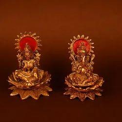 Metal Made Laxmi Ganesh For Giting