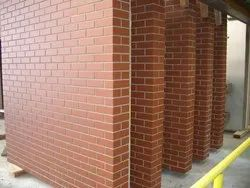 Plain Red, Brown Hand Made Bricks, For Construction
