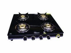 Glass 4 Burner Gas Stove