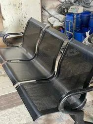 3 Seater Steel Visitor Sofa