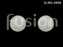 Cubic Zircon Stud Earrings
