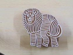 Egypt Lion Shaped Wooden Printing Blocks