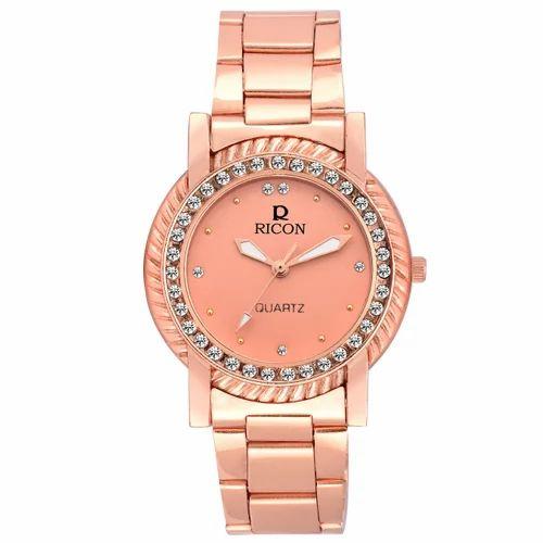 e7bb7e83b7bd Golden Pink Ricon Ladies Watch