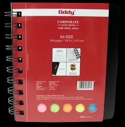 Oddy Wiro Notebook - (WR-RS-A6-160) - 160 Pages With Sticky Notes - A6 (10.8cm x 14cm)