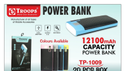 Troops Tp- 1009 12100m Power Bank