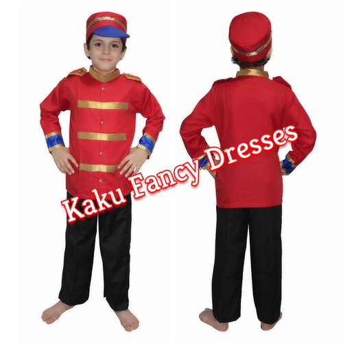3b4ad3765 Red/Black National Hero Kids British Soldier Costume, Size: Large, for  School