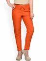 Cotton Slim Fit Ladies Pants