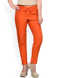 Cotton Slim Fit Ladies Pants