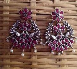 18 gm  Silver Look Alike Earrings