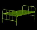 Painted And Coated Steel Cot