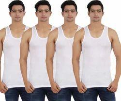 ZIPPY Hosiery Men's Cotton White Vest