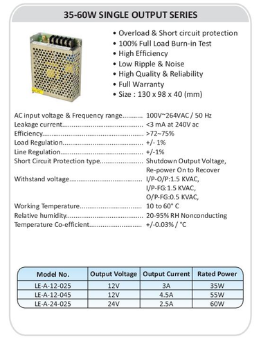 Mean Well S-350-24 Smps, Electric Fittings & Components | SMS ...