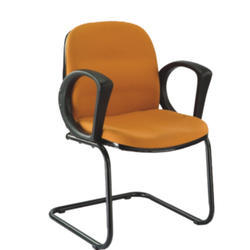 Low Back Pu Leather Fix chair, Size: 16 Inch (height)