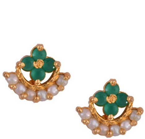 a5cbe8d57 Mahaveer Pearls Gold Polished Stud Earrings at Rs 448 /piece | Pearl ...