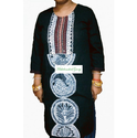MGMAGWK02 Black Kurti With Mithila Painting