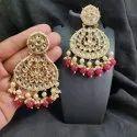 Maitri Brass Kundan Earrings