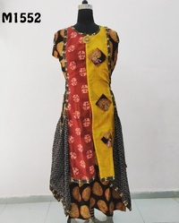 Long Cotton Embroidered Kurti