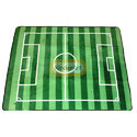 Football Field Soft Velvet Carpet