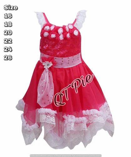 b8dfde7744a34 QT Pie Party Wear Baby Girls Frock Dress - SS Lifestyle