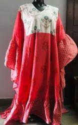Western Wear Y Multi Printed Cotton Fashion Dress, Size: Medium