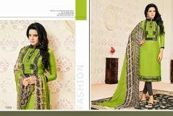 Collar Neck Samaira Salwar Suit Fabric
