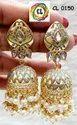 Handmade Kundan Meenakari Traditional Indian Earrings By Craftlife