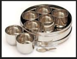 Stainless Steel Spice Box Indian Masala Dabba