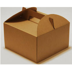 Brown Cake Cardboard Box