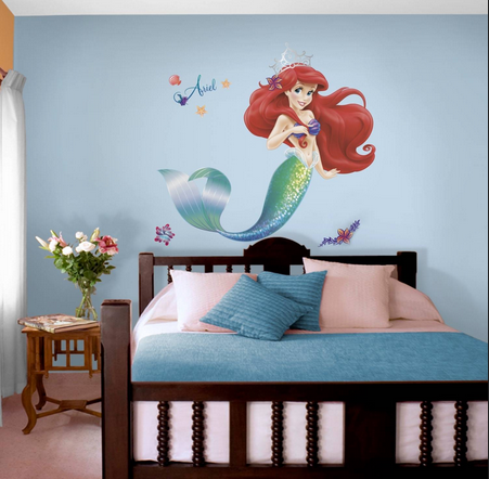 multicolor nilaya the little mermaid giant wall sticker, rs 500