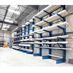 2-6 Mtr Carbon Steel Cantilever Racking System, Storage Capacity: 300-1500 Kg Per Level