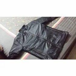 Black Hooded Leather Jacket