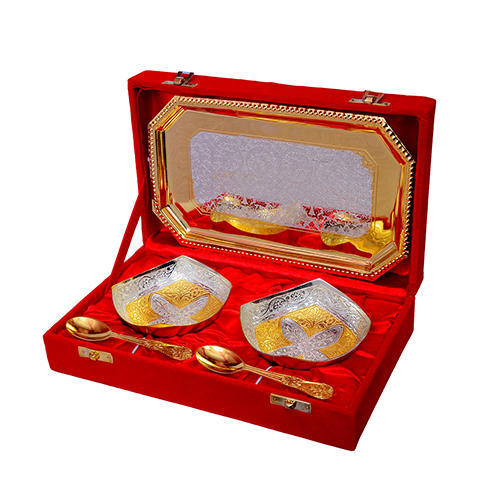 Brass Silver Gold Plated Bowl Set