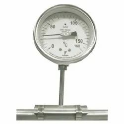 Stainless Steel Rigid Stem Gas Filled Temperature Gauge