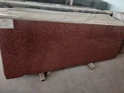 Flamed Cherry Red Granite Slab for Flooring, Thickness: 15-20 mm