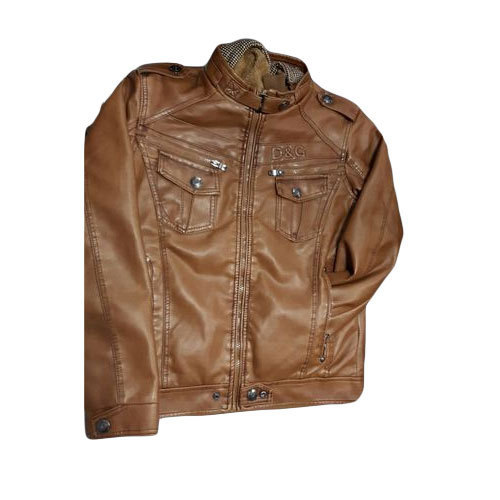 new styles reliable quality brand quality Men Brown Stylish Leather (d&g) Jacket, N.H. Fashion | ID ...