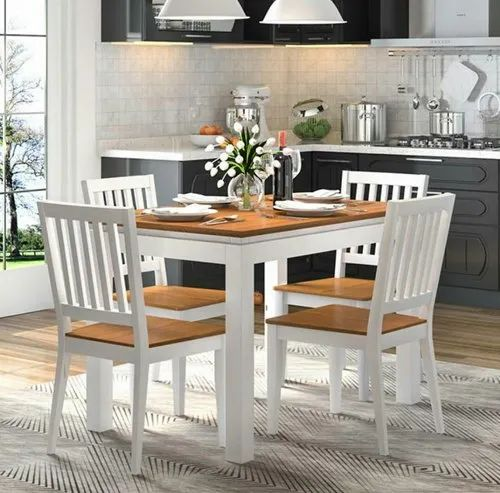 Rajtai Shree Pine Wood 4 Seater High Dining Table Set With 4 Chairs Rs 24999 Piece Id 22164613691