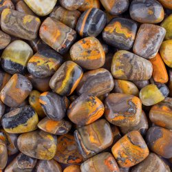 Natural Bumble Bee Jasper Stones in Assortment Loose Gemstones Tumbles